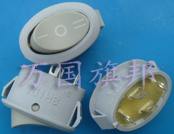 Free shipping.3 250 v grey boat switch, three or four oval