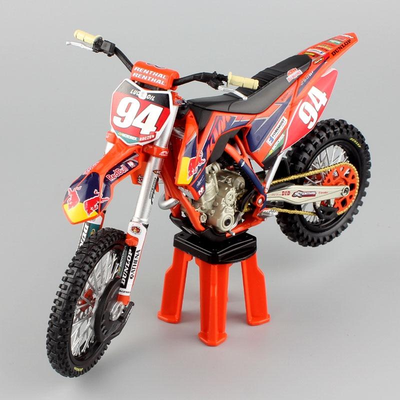 1 12 escala KTM 250 SX-F racer No.94 KEN ROCZEN AMA Supercross moto Cruz Enduro moto rcycle moto juguete en miniatura moldeado a presión de los niños