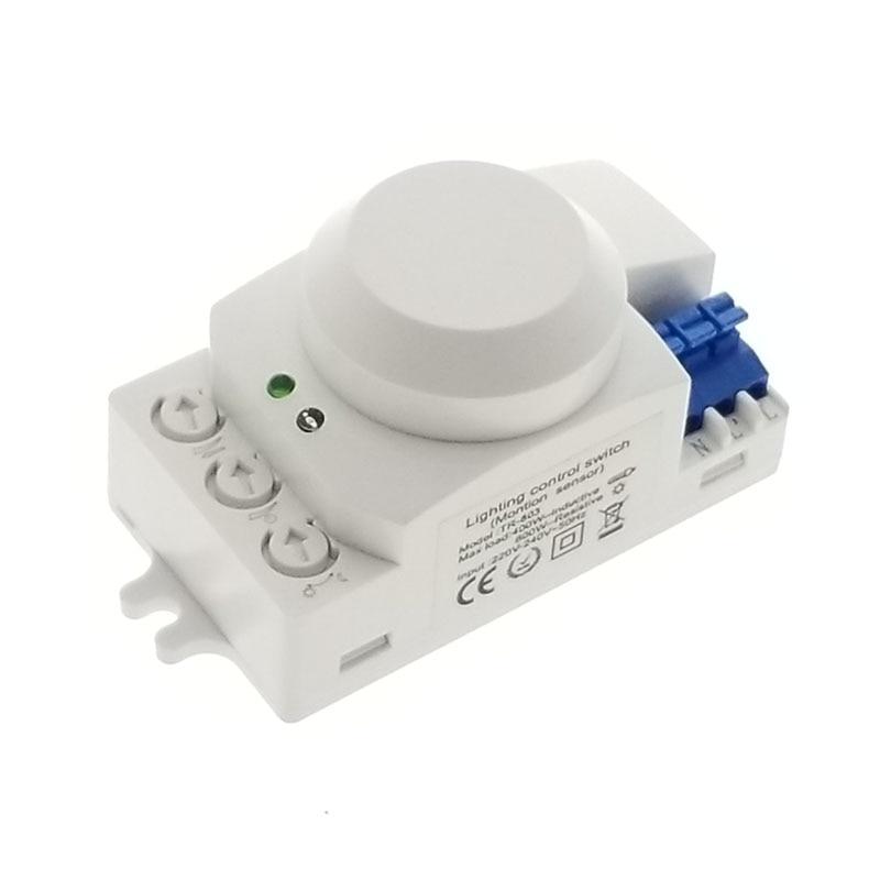 Gran venta sistema HF de 5,8 GHz LED microondas Sensor de movimiento de Radar de 360 grados interruptor de luz cuerpo Detector de movimiento