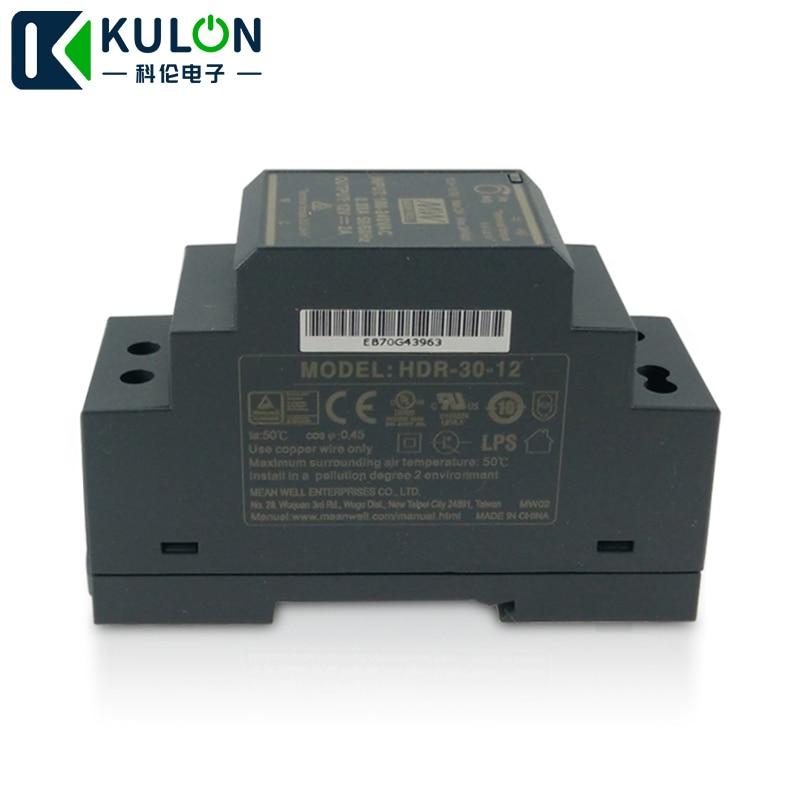 MEAN WELL HDR-30 24W 220v a 12V DIN Rail fuente de alimentación en forma de paso mini fuente de alimentación de tamaño Delgado 12V DC ajustable