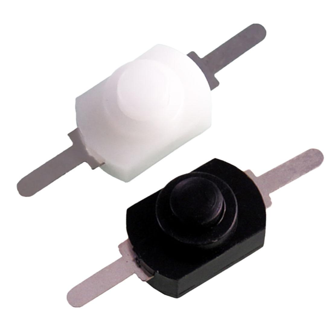 Hot sale 1pc/5pcs/10pcs1A 30V DC 250V White/Black Latching On Off Mini Torch Push Button Switch