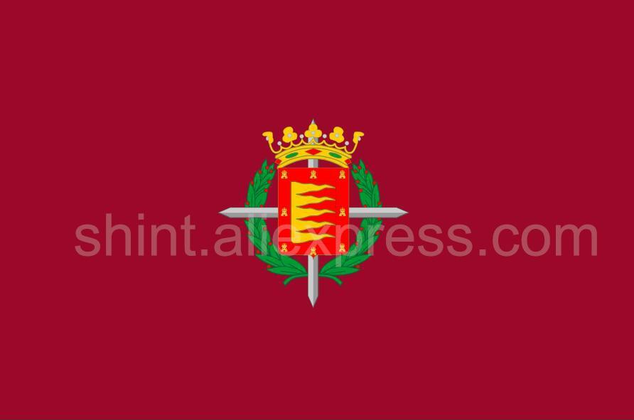 Bandera de valladolid de España, Bandera de poliéster de 3x5 pies, Bandera de 150x90 cm, personalizada al aire libre