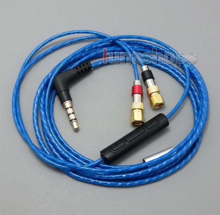 LN004985 con micrófono remoto Cable de volumen para HiFiMan HE400 HE5 HE6 HE300 HE560 HE4 HE500 HE600 auriculares