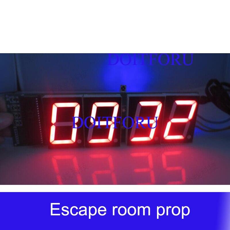 Комната побега игра выделенный таймер обратного отсчета светодиодные часы четырехзначный цифровой дисплей diy часы