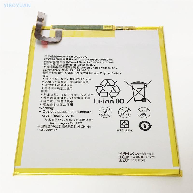 3.82V 5100mAh For HUAWEI MediaPad M5 8 SHT-AL09 SHT-W09 аккумулятор Batterie Bateria Batteria batterij Battery