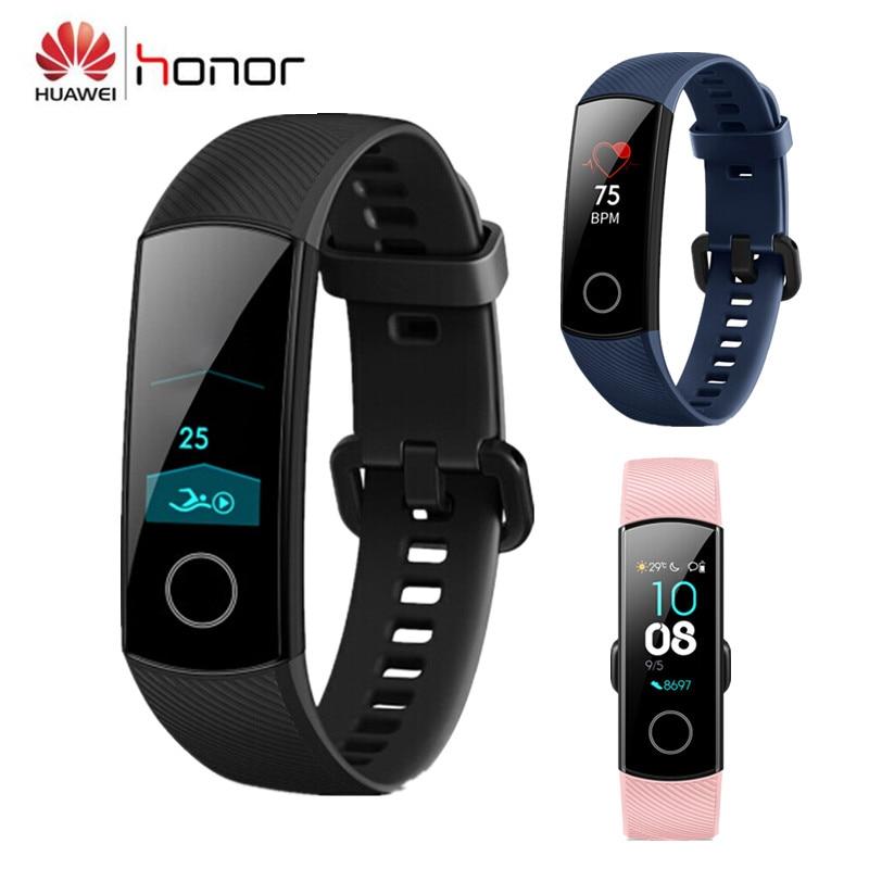 "Huawei Honor Band 4 Smart Wristband Amoled Color 0.95"" Touchscreen Swim Posture Detect Heart Rate Sleep Snap Honor Smart Band"