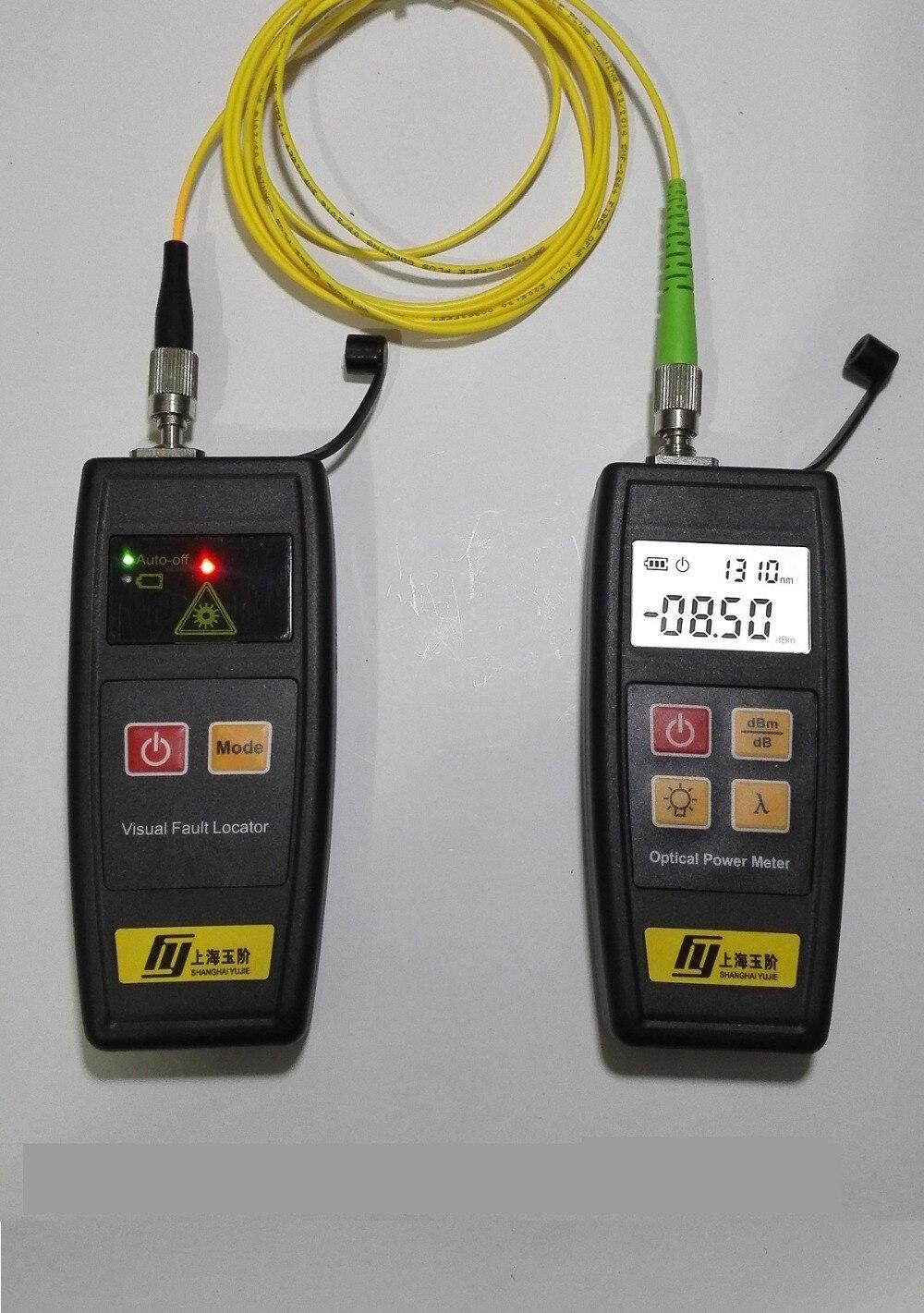 2 in 1 FTTH Werkzeuge mit Mini Optical Fiber Power Meter und Visual Fault Locator 50MW VFL Fiber Optic kabel Tester