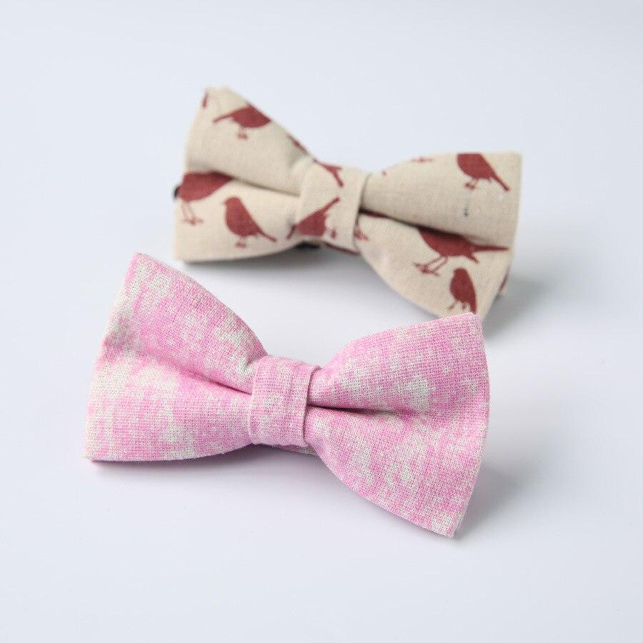 high quality fashion new designer bow tie mens women cotton linen bowties for wedding party 11x6cm  10pcs/lot