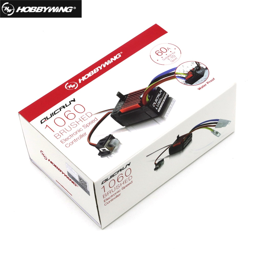 Original HobbyWing QuicRun 1060 60A Brushed Electronic Speed Controller ESC For 1:10 RC Car Waterproof For RC Car