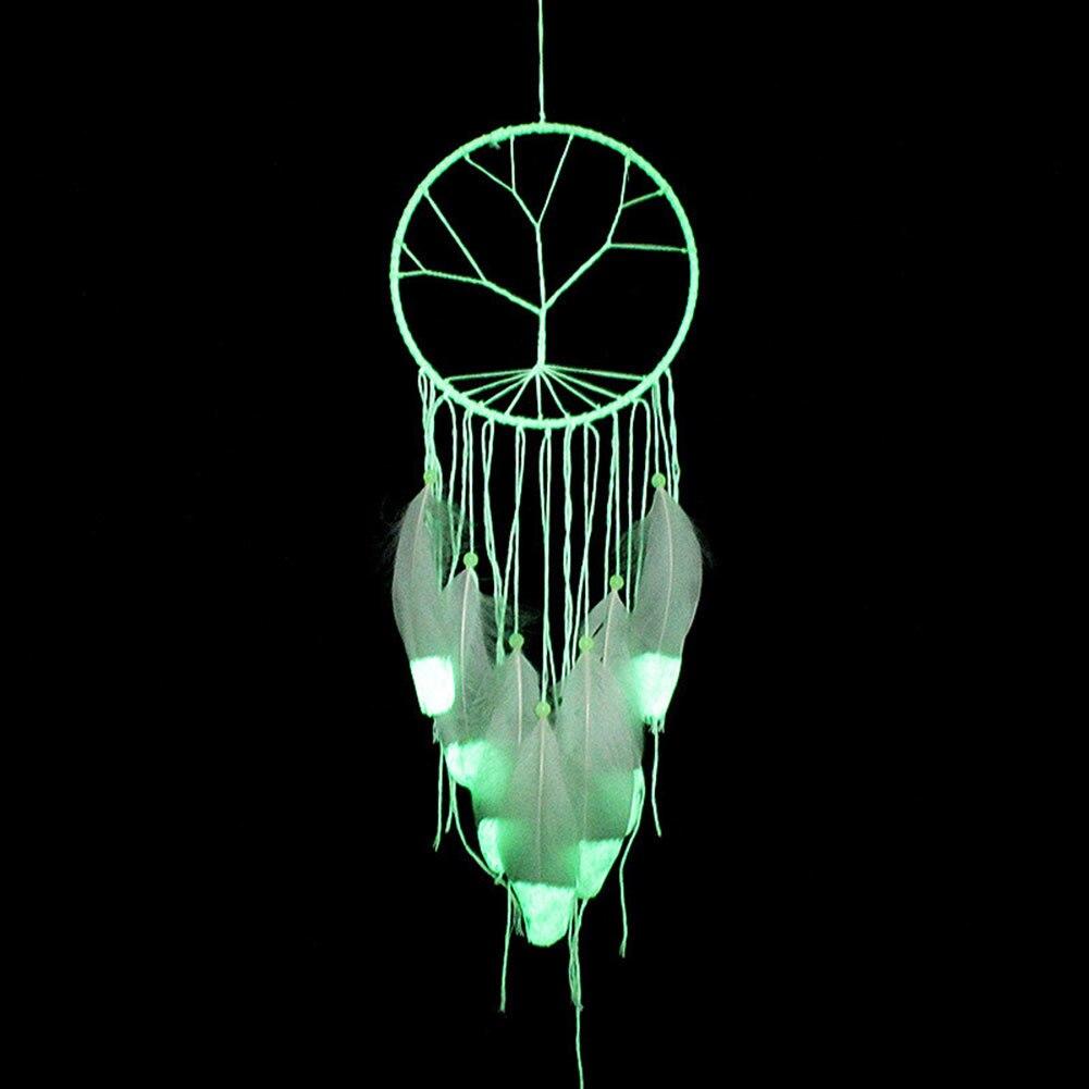 Atrapasueños fluorescente fresco, adornos colgantes hechos a mano para interiores, regalo para el Día de San Valentín, de viento Noctilucous carillones, decoración colgante de pared