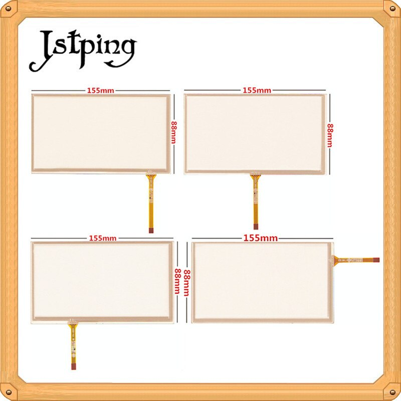 Jstping 5 uds 6,2 pulgadas cuatro cables 4 pines pantalla táctil de resistencia HSD062IDW1 155*88mm 155mm * 88mm panel de vidrio externo digitalizador