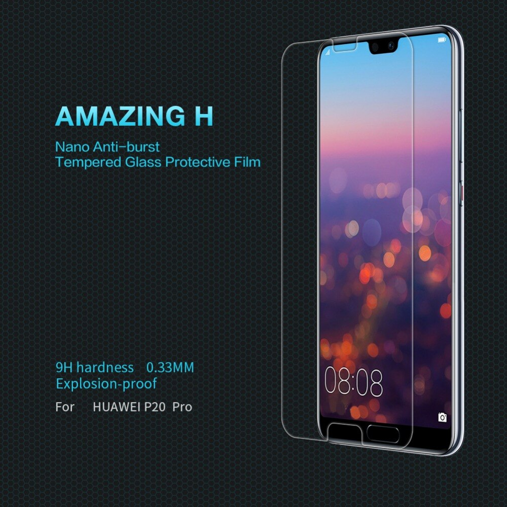 Para Huawei P20 Pro cristal templado NILLKIN increíble H Anti-explosión 9H 0,3mm Protector de pantalla para Huawei P20 Pro funda