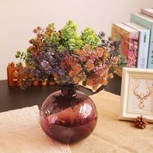 Plastic Artificial Succulents Alocasia Artificial Flower DIY Suculentas Artificiais Wedding Decoration Plant Party Supplies