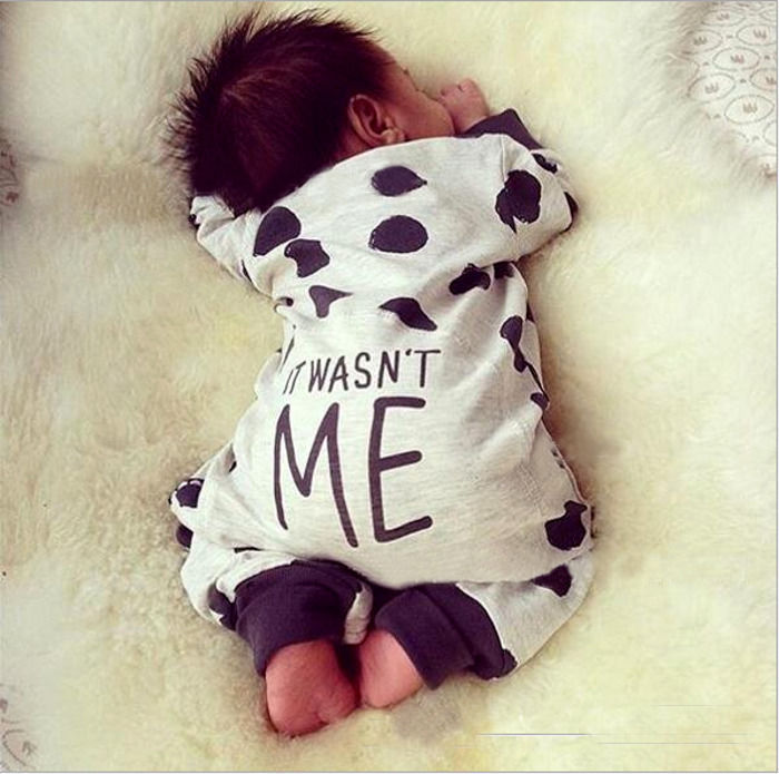 Recién Nacido bebé niña mono Polka Dot manga larga lindo encantador ropa de moda traje 0-24M