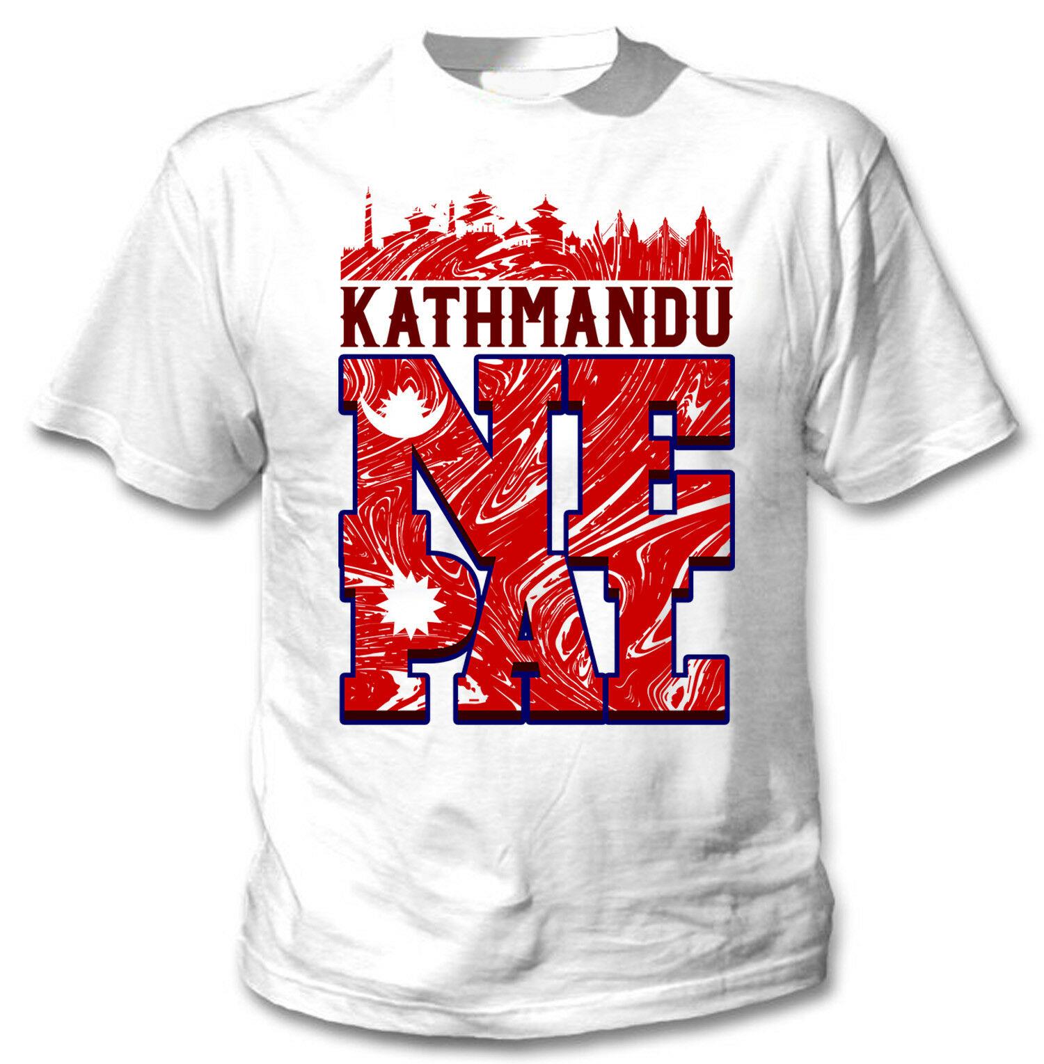 Katmandú Skyline Nepal-nuevas camisetas blancas de algodón para hombres camisetas gráficas hombres