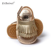 Summer Brand PU Leather Baby Moccasins Tassel Girls Baby Shoes Outdoor Princess Toddler Shoes Rubber