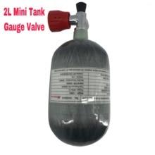 AC52011 Acecare 2L Air fusil Paintball/Pcp réservoir dair Mini bouteille de gaz en Fiber de carbone bouteille de plongée 4500psi jauge Pcp Valve