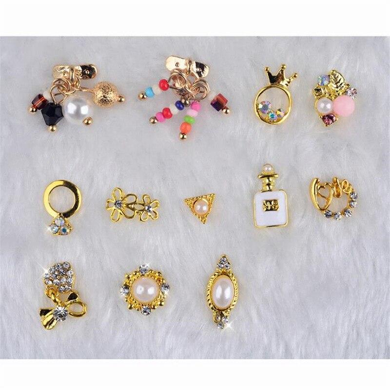 1 caixa de liga arco pérola natal artesanato decoração flatback cabochão enfeites para scrapbooking acessórios da arte do prego diy