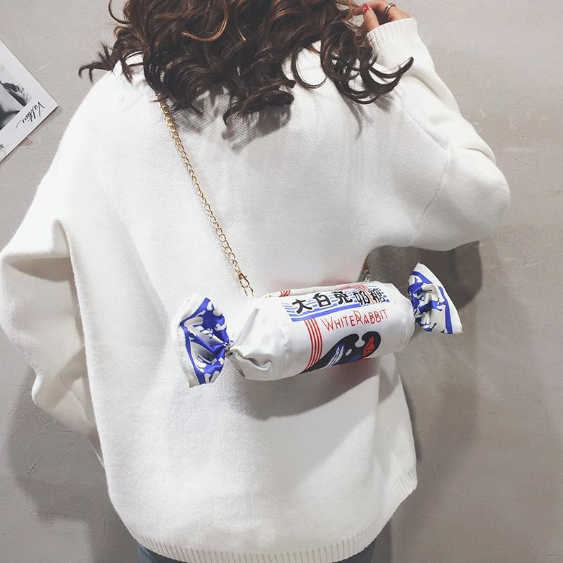 New Baggage Girl on Lovely Canvas White Rabbit Milk Sugar Chain