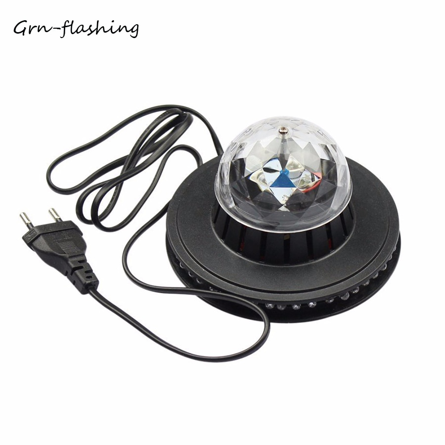 mini stage light 3w usb powered sound actived multicolor disco ball magic effect lamp for birthday party concert d Grn-flashing Mini sound Control stage light AC220V Crystal Magic Ball RGB LED Multicolor effect light for DJ birthday Party Club