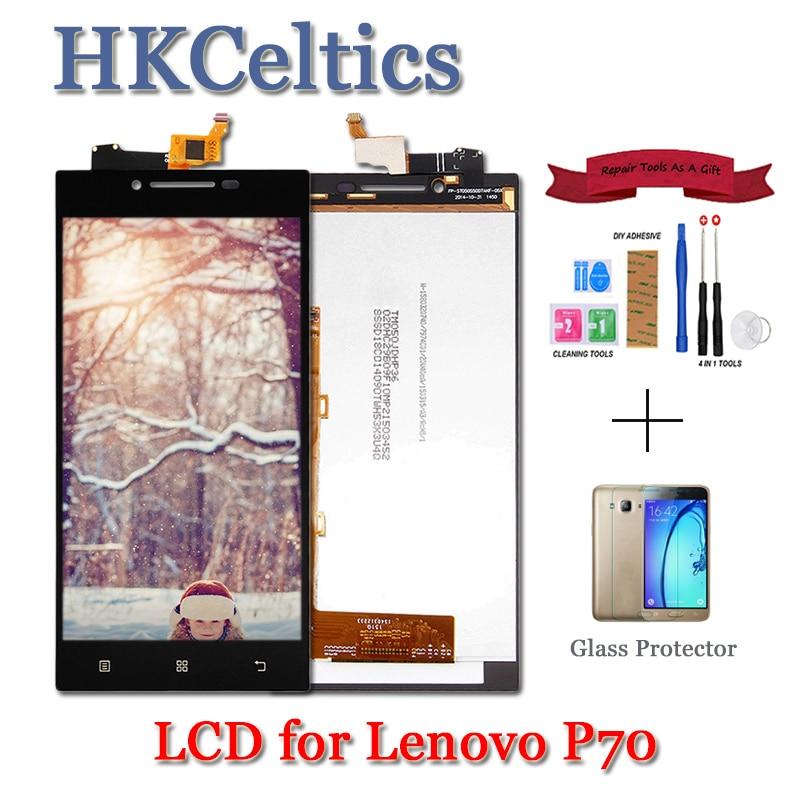 Para Lenovo P70 pantalla LCD y montaje de digitalizador con pantalla táctil para Lenovo P70 Display + Frame P70-A P70-T LCD reemplazo de 5,0 pulgadas