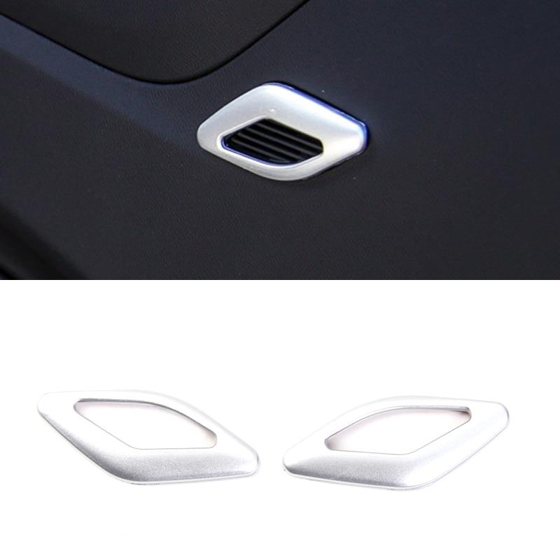 ABS Plastic 2PCS Silver/Red/Blue Interior Door Tweeter Treble Speakers Trim For 2016 2017 Chevrolet Camaro