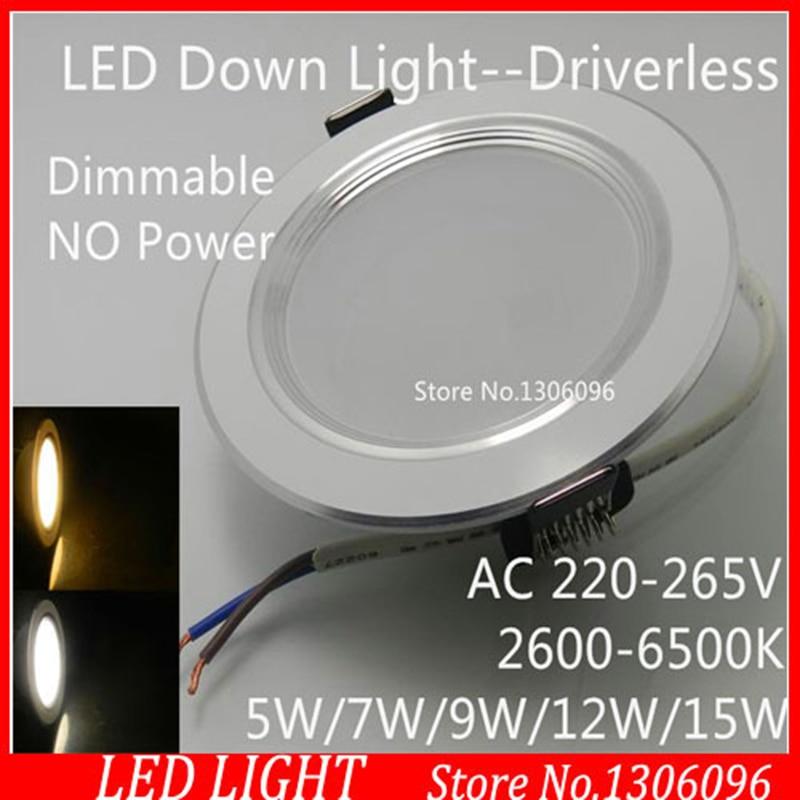 HY-مصباح سقف غائر LED للديكور المنزلي ، مصباح سقف LED قابل للتعتيم AC220 ، 5 واط/7 واط/9 واط/12 واط/15 واط ، لومن عالي SMD ، بالجملة