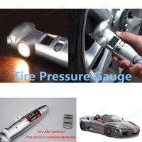 4 in 1 High Precision LCD Digital Auto Car Tyre Tire Pressure Gauge Meter Tester Cutter Emergency Hammer Flashlight Torch