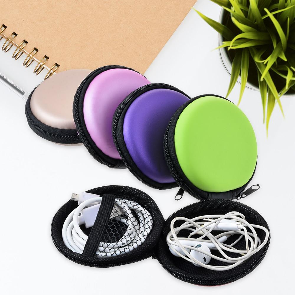Ivyshion quadrado caixa de organizador fio do fone de ouvido caixa protetora caso recipiente moeda fone de ouvido linha dados cabos caixa armazenamento caso