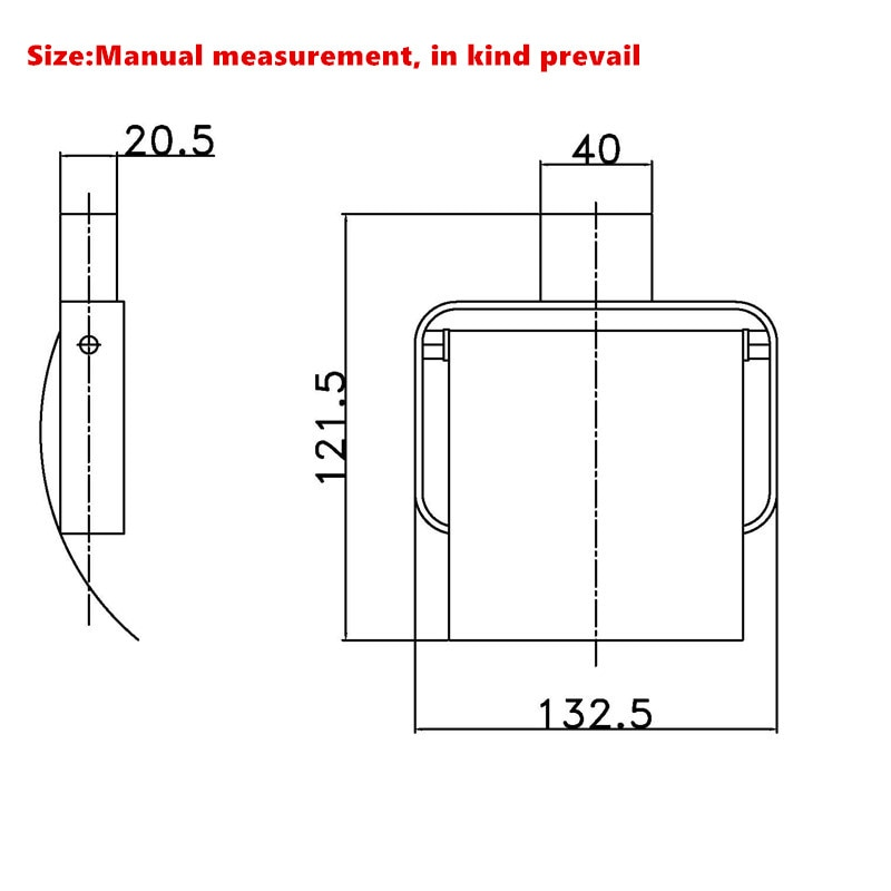 Купить с кэшбэком Wall Mount SUS304 Stainless Steel Toilet Paper Holder With lid Square Toilet Roll Holder Bathroom Accessory Matte Black/Brushed