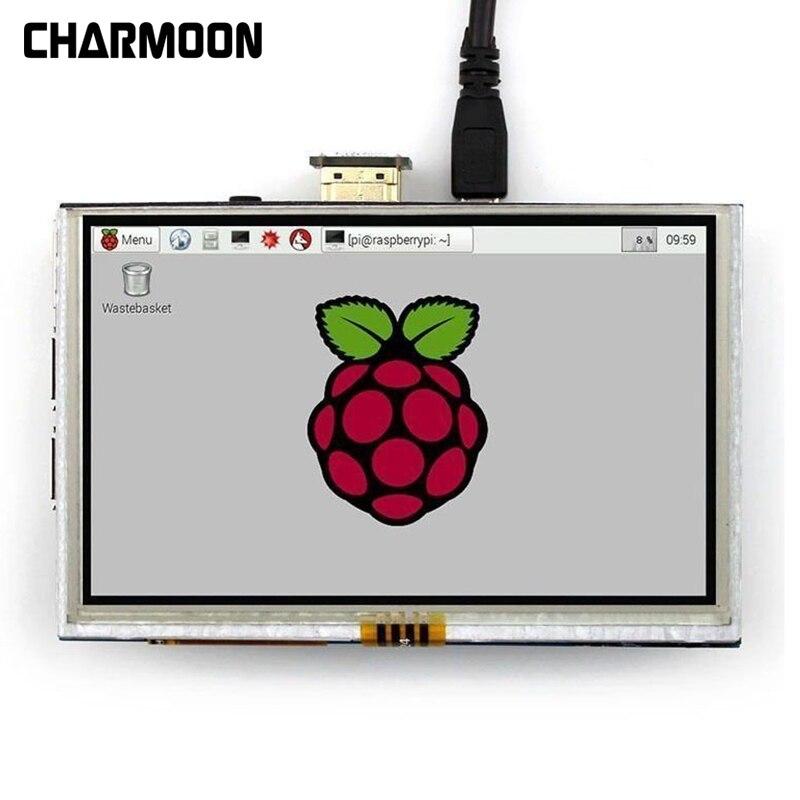 7 بوصة بالسعة 5 نقطة اللمس شاشة 800x480 TFT LCD عرض HDMI وحدة ل التوت بي دعم مختلف أنظمة