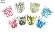 In lega di alluminio Transformers Per Auto Auto Finestra Logo di Coda Decorazione Del Corpo di Automobile Auto Styling