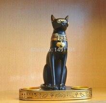 Candelabros dobles egipcios Dios gato Egipto bast para Egipto accesorios de juego de escape de la vida Real decorar