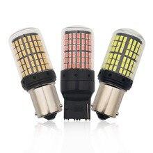 1 Uds. De Chips Led 144 SMD 3014 Canbus P21W luz trasera de señal de giro de marcha atrás para coche 1156 BA15S ámbar