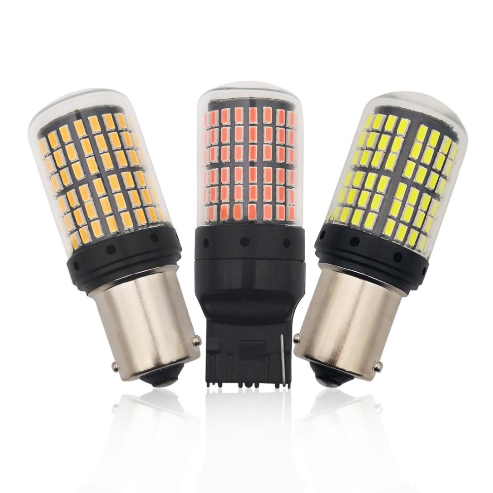 Bombillas Led 3014 144smd CanBus 1156 BA15S BAU15S P21W LED luces de señal de giro sin Error de bombilla sin Hyper Flash p21w