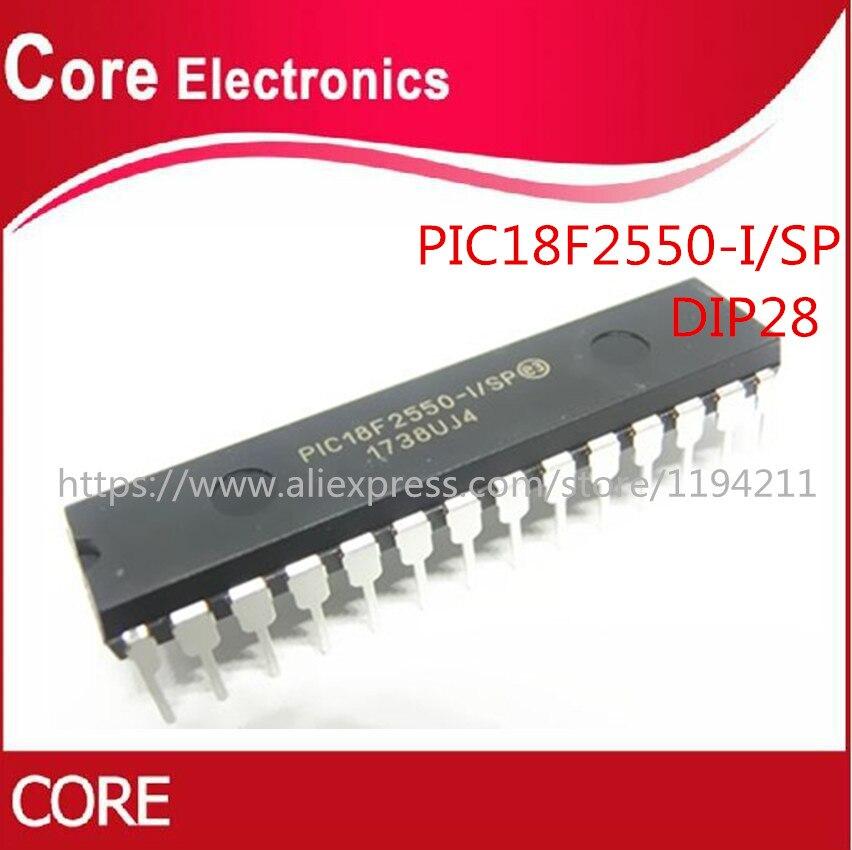 PIC18F2550-I/SP DIP-28 PIC18F2550 18F2550 IC 10 pçs/lote