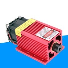 Maxgeek 7W 445nm Blue Laser Module Adjustable Power for Laser Engraver Cutter Machine PWM