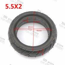 Livraison gratuite 5.5x2 solide pneu diamètre externe 128mm convient pour Hoverboard auto équilibrage Scooter électrique pièces de rechange