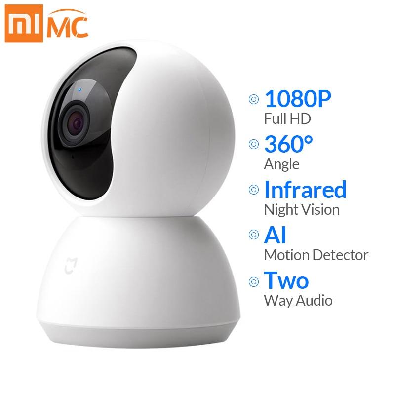 Xiaomi Mijia Mini cámara IP Wifi 1080P HD visión nocturna infrarroja 360 grados inalámbrica Wi-fi CCTV Webcam cámara de seguridad inteligente para el hogar