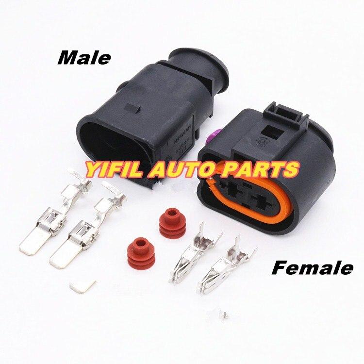 Conector de inyección de combustible sellado automático de 2 pines resistente al agua para VW Toyota Honda Hyundai Elantra DJ70228-6.3-11/21 1J0973852