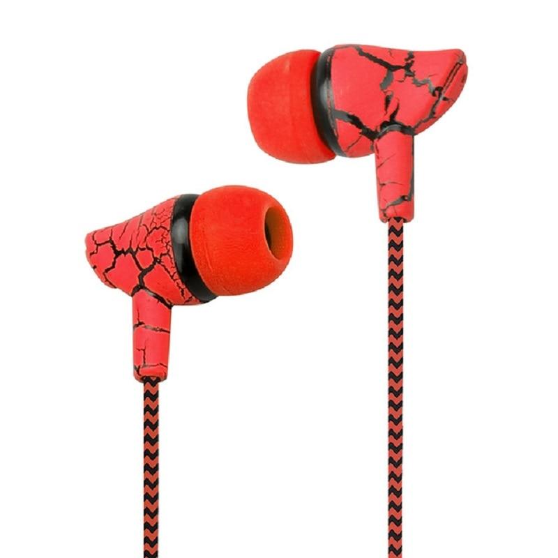 Auriculares con cable de 3,5mm, diseño a la moda, de nailon trenzado, con grietas, cuerda, auriculares estéreo Bass Music para teléfono móvil MP3 MP4