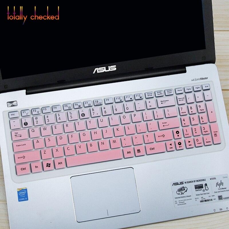 Tampa do teclado Protetor Da Pele Para O Asus X54C Fl8000U Fx60V A580U W519 Vm510 X555Y X555L X555B X55C X54H X53Sj N61V 15.6 Polegada