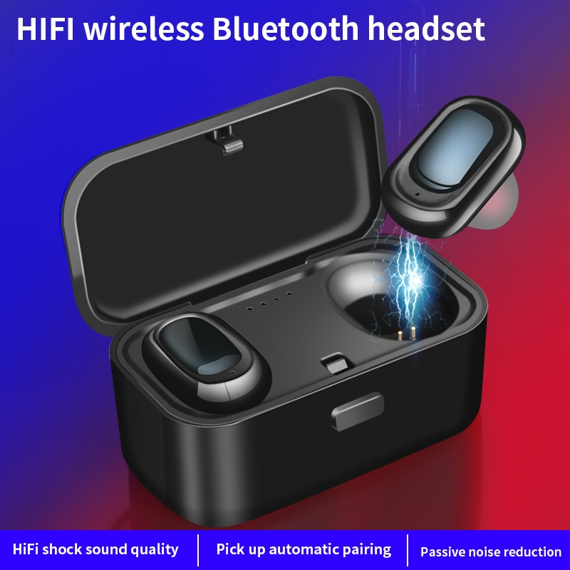 TWS L1 QS1 Mini Dual V4.2 auriculares inalámbricos Bluetooth auriculares de sonido estéreo 3D con micrófono Dual y caja de carga