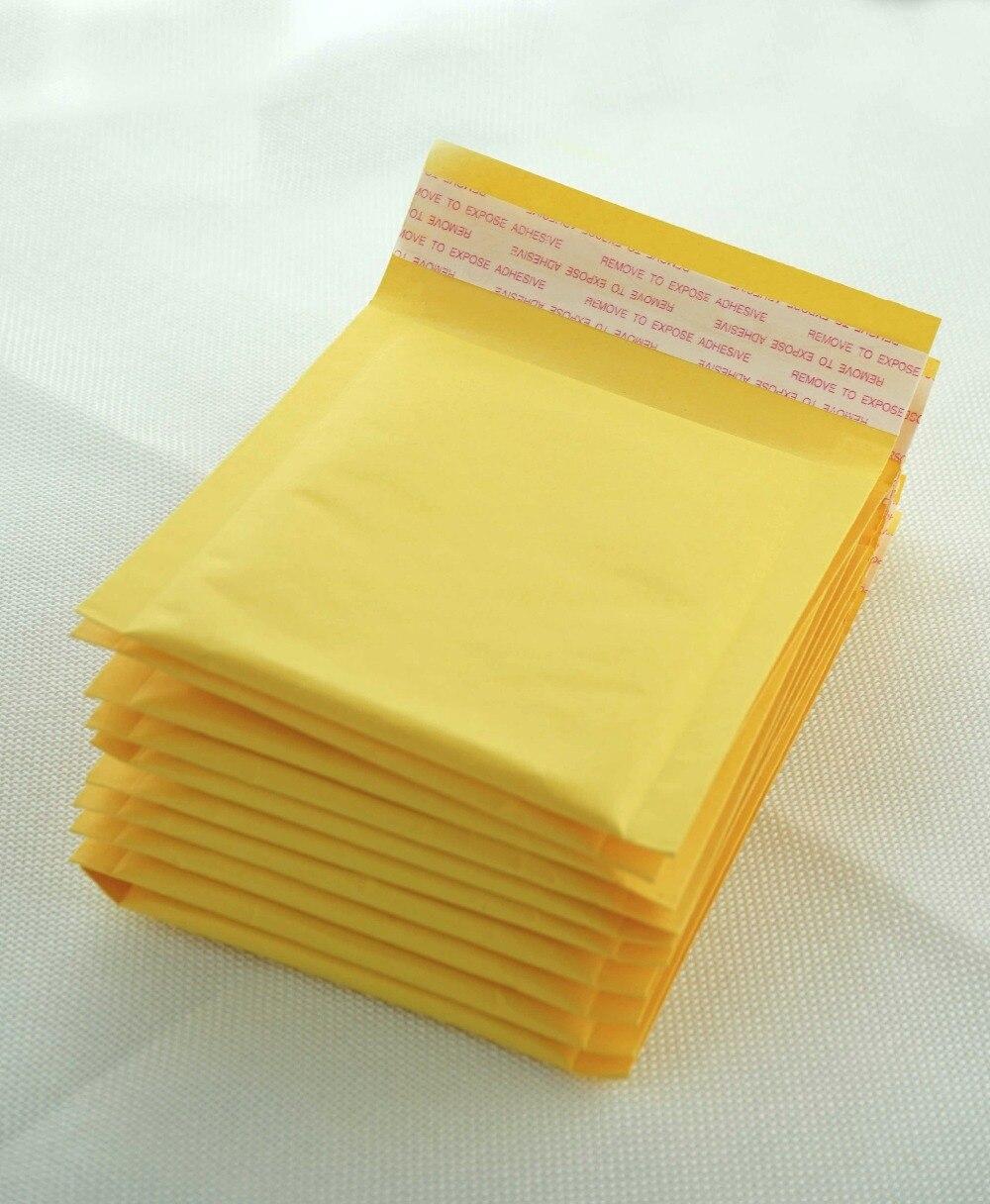 (110x150mm) 10 unids/lote sobres acolchados de burbujas para correo, bolsas de envío, bolsas de sobres de Papel Kraft con burbujas para correo