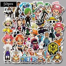 50pcs One Piece Stickers For Snowboard Laptop Luggage Car Fridge DIY Styling Vinyl Home Decor Pegatina