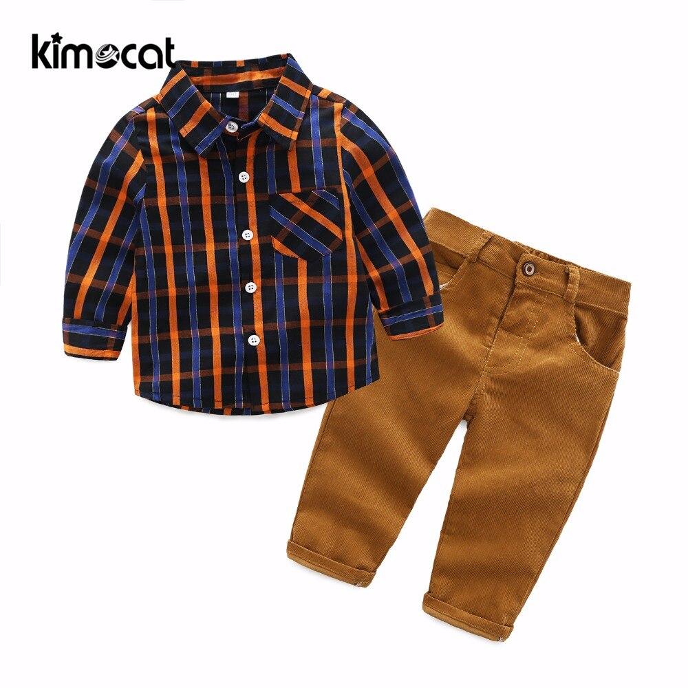 Kimocat-طقم ملابس لحديثي الولادة ، ملابس أطفال قطنية أنيقة ، 0-24 متر ، أزياء ربيع وخريف 2018