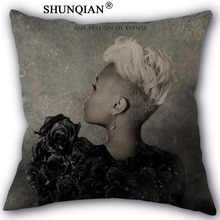 Emeli sande funda de algodón de lino funda de almohada cuadrada con cremallera diseño único personalizar su imagen 45x45cm un lado