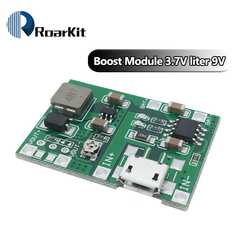 3.7V 4.2V Lithium Li-ion 18650 Battery Charger Board DC-DC Step Up Boost Module TP4056 TC4056 DIY Kit Parts
