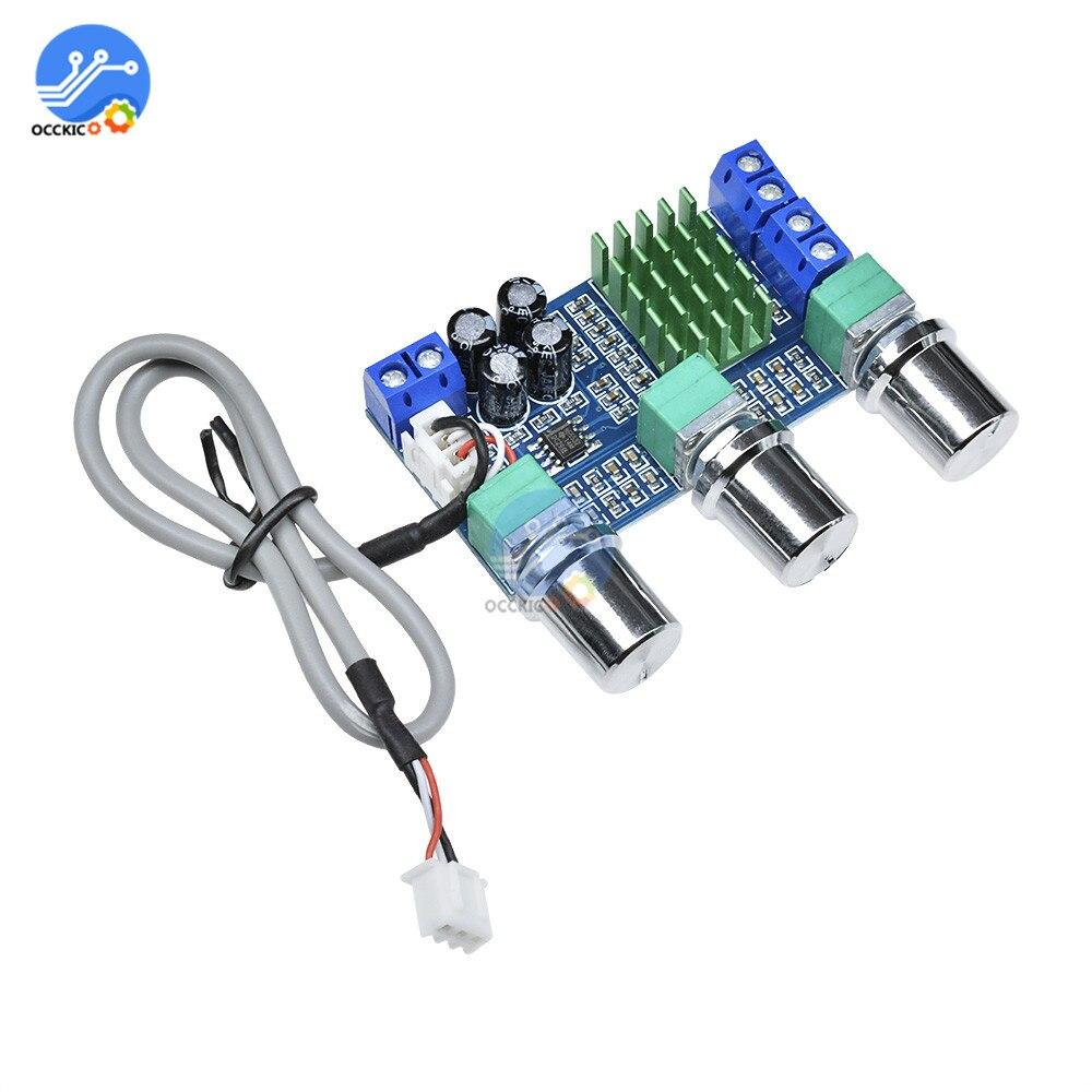 Placa de amplificador de audio TPA3116D2 DC12-24V 2x80 W, alta potencia, estéreo Digital, Control de volumen, módulo de altavoz de coche, módulo de alta fidelidad
