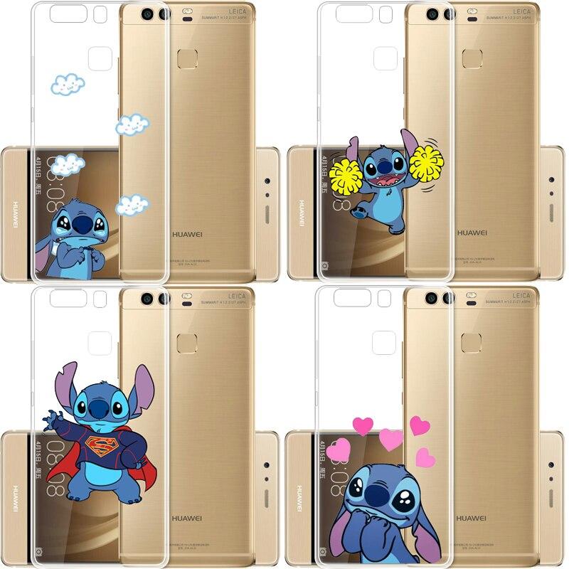 Funda de teléfono con dibujos animados de Stich Stitch, funda de teléfono transparente suave, Fundas, Fundas para Huawei P8L P9 P20 P20L P30 Mate20 9 10, funda